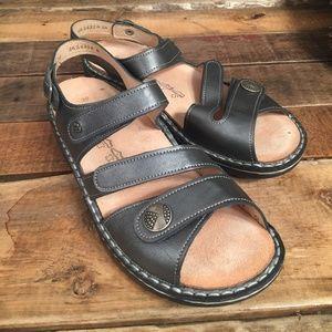 Finn Comfort Women's Gomera Sandals Gray Size 39
